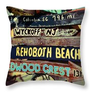 East Coasters Throw Pillow