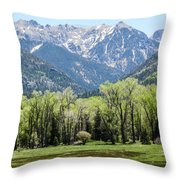 East Fork Mountain Valley Throw Pillow