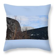 East From Cannon Mountain Throw Pillow