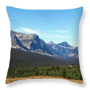 East Glacier Park Throw Pillow
