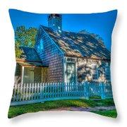 East Hampton Antique Cottage Throw Pillow