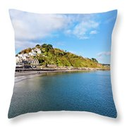 East Looe From Banjo Pier Throw Pillow