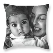 East Meets West Monochrome Throw Pillow