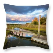 East Moriches Reflections Throw Pillow