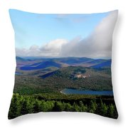 East Of Blue Throw Pillow