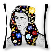 East Of Peace Throw Pillow