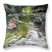 East Okement River Throw Pillow