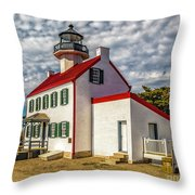 East Point Light -renovated Throw Pillow