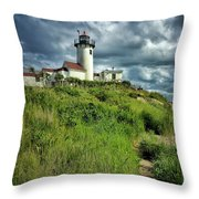East Point Lighthouse Throw Pillow