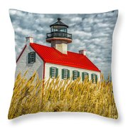 East Point On The Maurice River  Throw Pillow