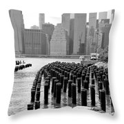 East River #1 Throw Pillow