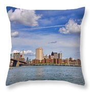 East River Crossings Throw Pillow