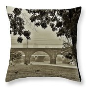 East River Drive - Philadelphia Throw Pillow by Bill Cannon