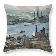 East River From Shelton Hotel Throw Pillow