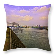 East River View Looking North Throw Pillow
