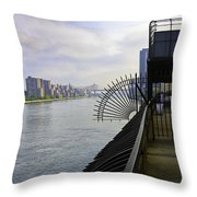 East River View Looking South Throw Pillow