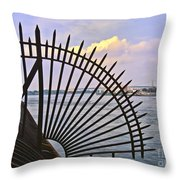 East River View Through The Spokes Throw Pillow