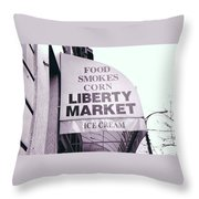 East Side Awning Throw Pillow