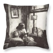 East Side Interior Throw Pillow