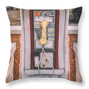 East Side Pay Phone Throw Pillow