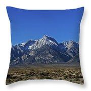 East Side Sierra Nevada Range Throw Pillow