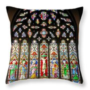 East Stained Glass Window Christ Church Cathedral 1 Throw Pillow