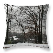 East Tennessee Winter Throw Pillow