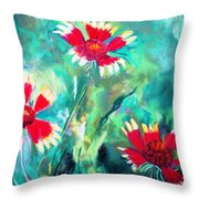 East Texas Wild Flowers Throw Pillow