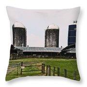 East Tn Farm Time Throw Pillow