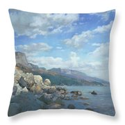 East View. A Seascape In The Vicinity Of Foros Mmxi Throw Pillow