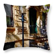 East Village New York Townhouse Throw Pillow