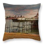 Eastbourne Pier Throw Pillow