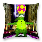 Easter Abstract Throw Pillow