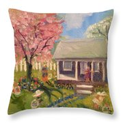 Easter At My House Throw Pillow