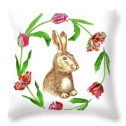 Easter Background Throw Pillow