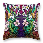 Easter Banner Throw Pillow