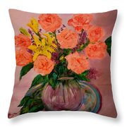 Easter Bouquet Throw Pillow