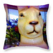 Easter Bunny Bouquet Throw Pillow