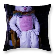 Easter Bunny Costume  Throw Pillow