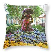 Easter Bunny Topiary Throw Pillow