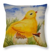 Easter Chick Throw Pillow