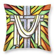 Easter Cross 5 Throw Pillow
