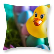 Easter Duckie Throw Pillow
