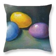 Easter Eggs No. 1 Throw Pillow