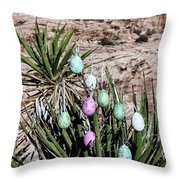 Easter Eggs On The Tree Throw Pillow