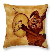 Easter Golden Egg For You Throw Pillow