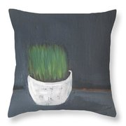 Easter Grass In A Pot Throw Pillow