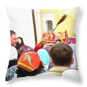 Easter Holiday Throw Pillow