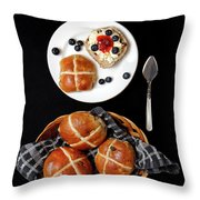Easter Hot Cross Buns  Throw Pillow