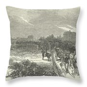 Easter Hunt With The Royal Stag Hounds  The Meet At Stoke Common Throw Pillow